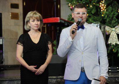 Денис Чудаев и Виктор Любимов ведущие 5ти летия ЗАО «УСТИ»